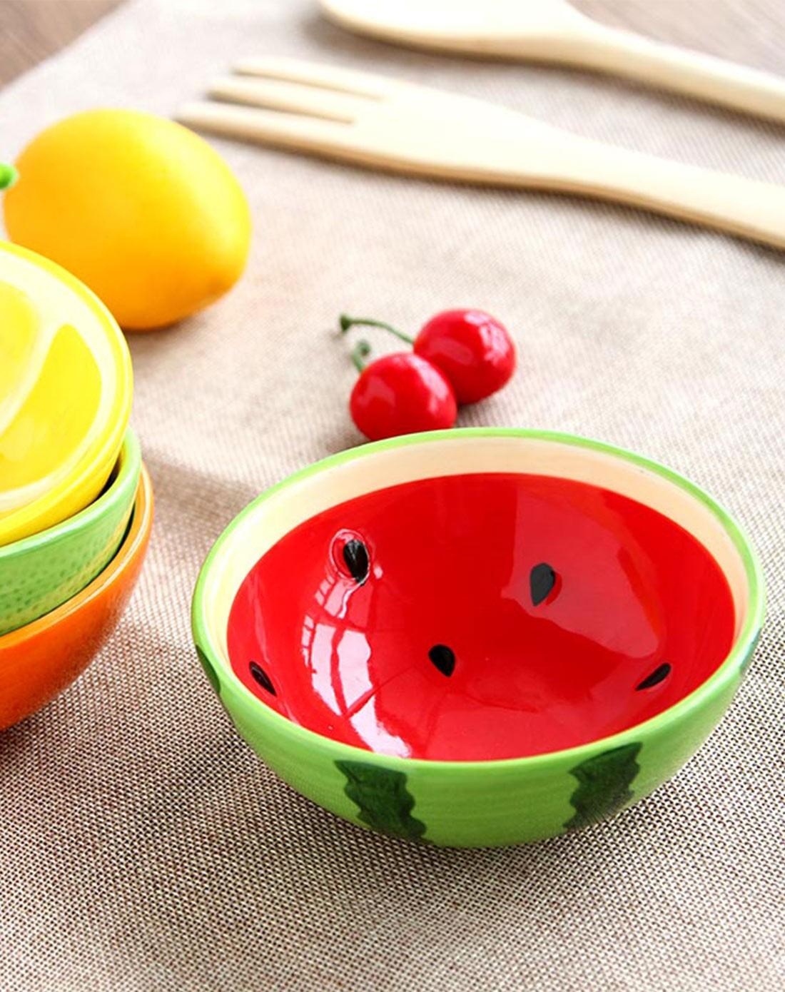 (2件起售)手绘水果系列4只碗套装