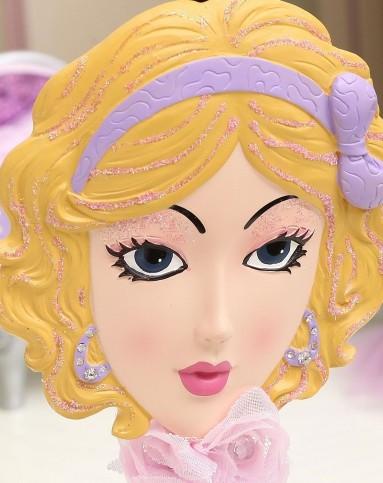 紫色可爱面具珠宝架