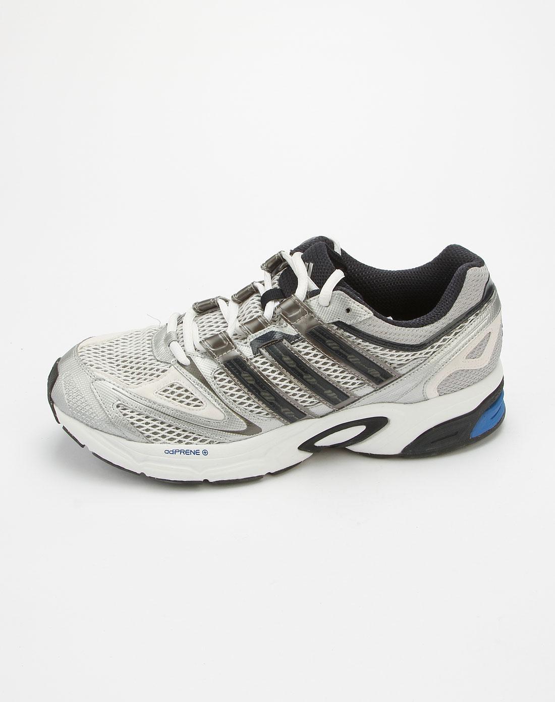 阿迪达斯adidas银灰色休闲网布运动鞋g43032