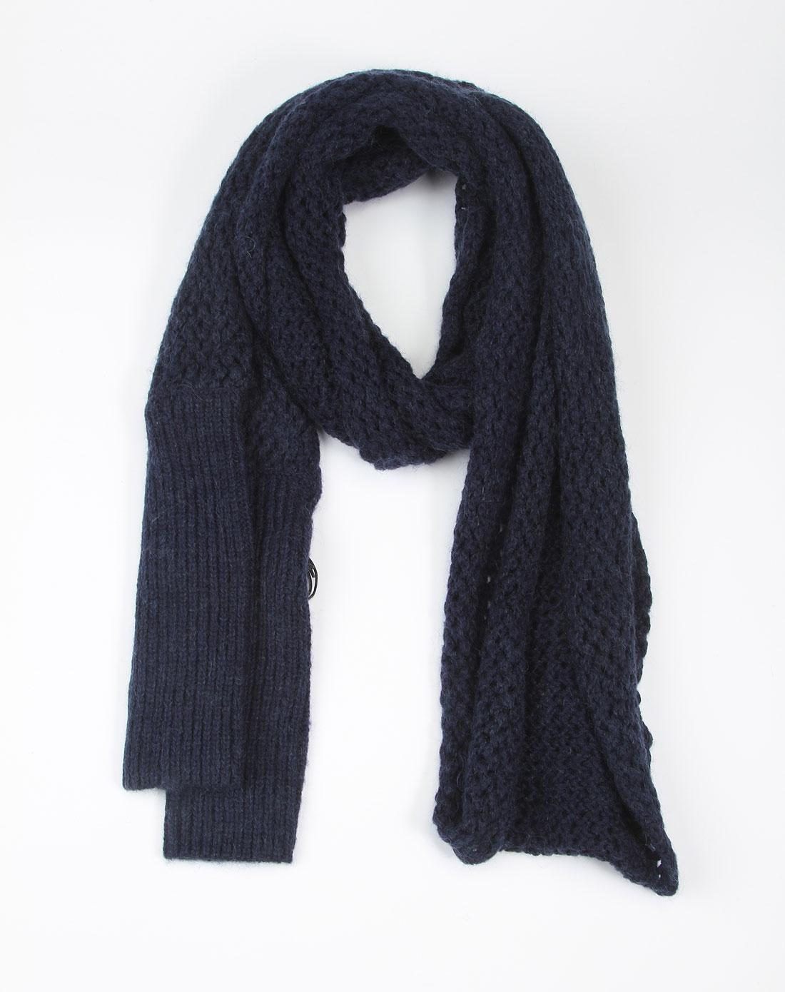 ppt 蓝色镂空长围巾
