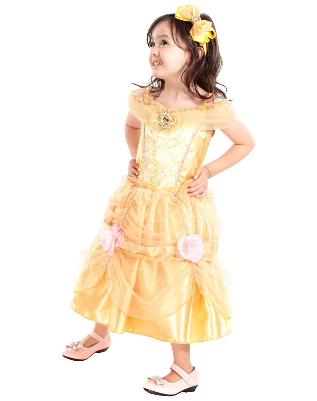 迪士尼炫酷贝尔公主裙