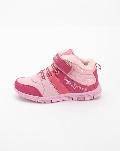 童鞋女童粉红色时尚雪地鞋