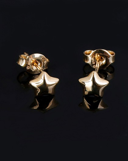 [来自星星的你]14k纯黄金玲珑精巧别致3d立体工艺来自星星的你素金