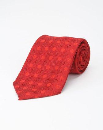 深红色时尚圆圈领带