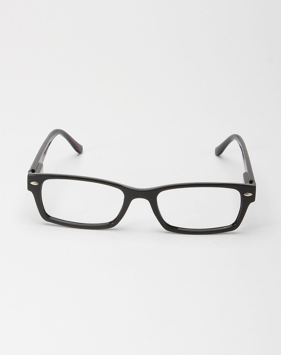 谷蔻gagacoco亮黑色简约眼镜框011249190