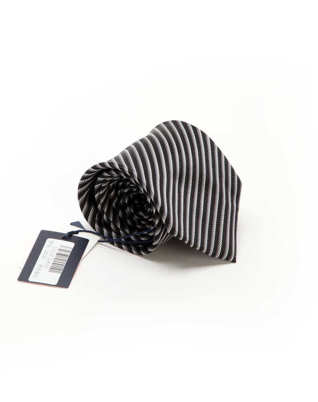 黑白条纹时尚领带