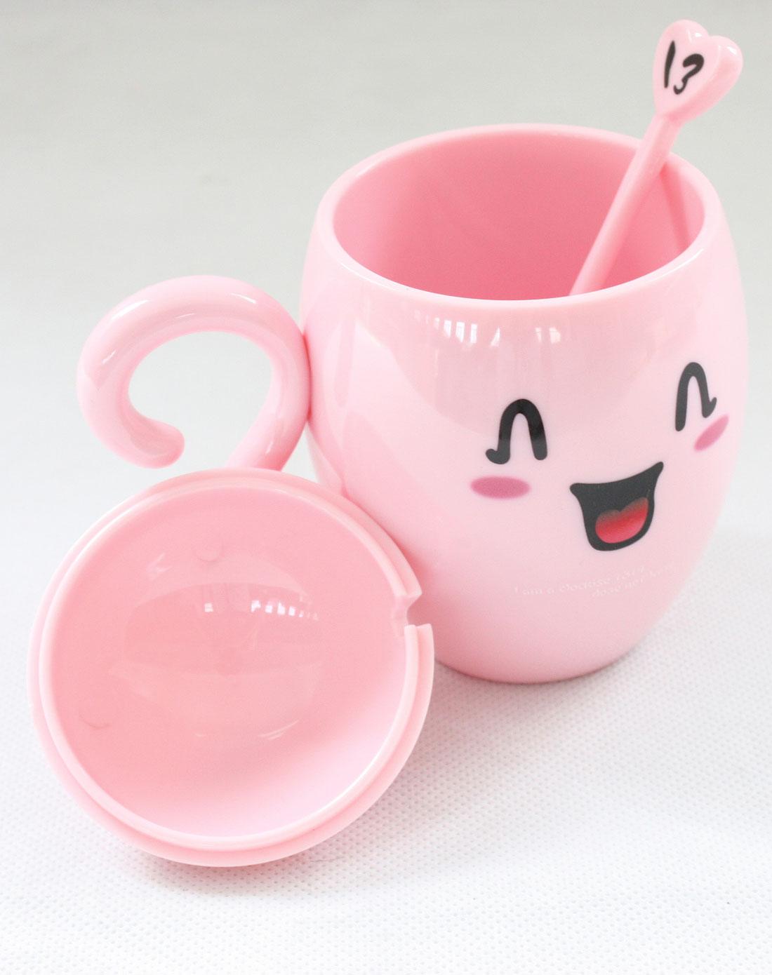 粉色卡通爱情杯