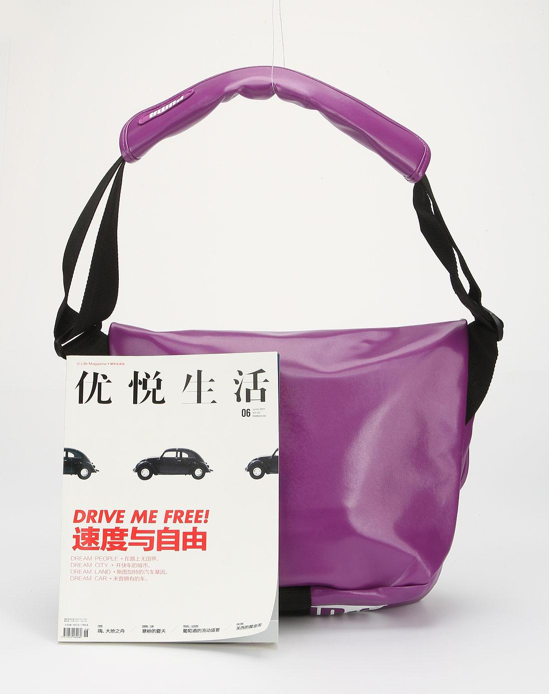 彪马puma紫色traction系列斜挎包06915704