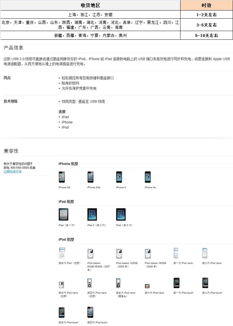 > 苹果iphone4s数据线