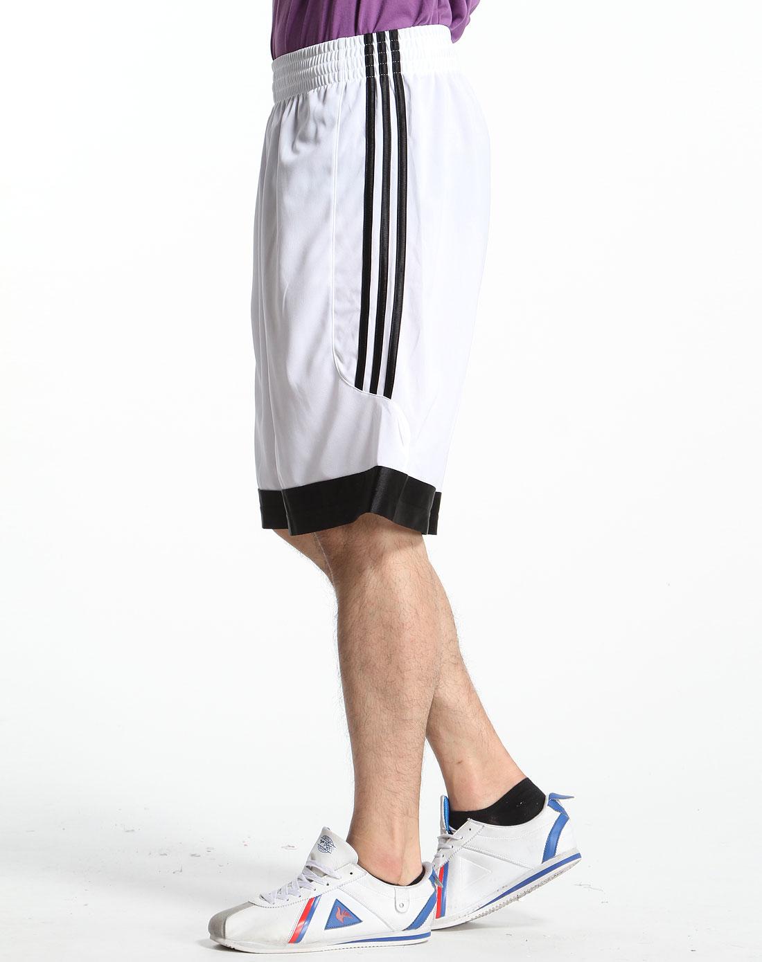 白色蓝球运动短裤
