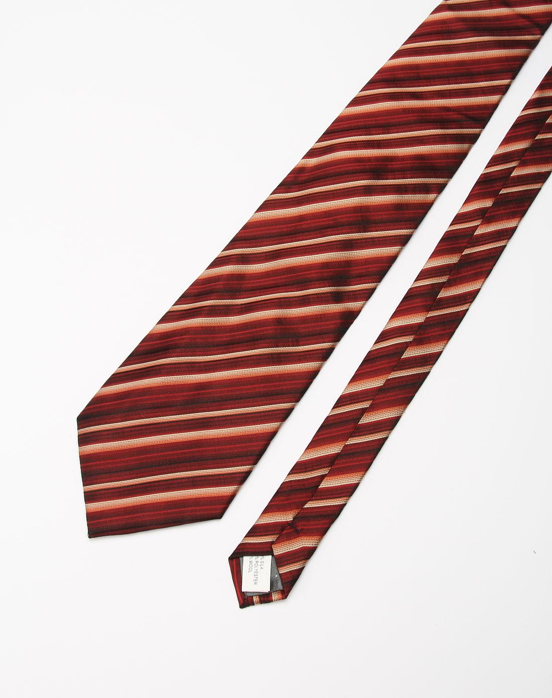 枣红色斜纹时尚领带