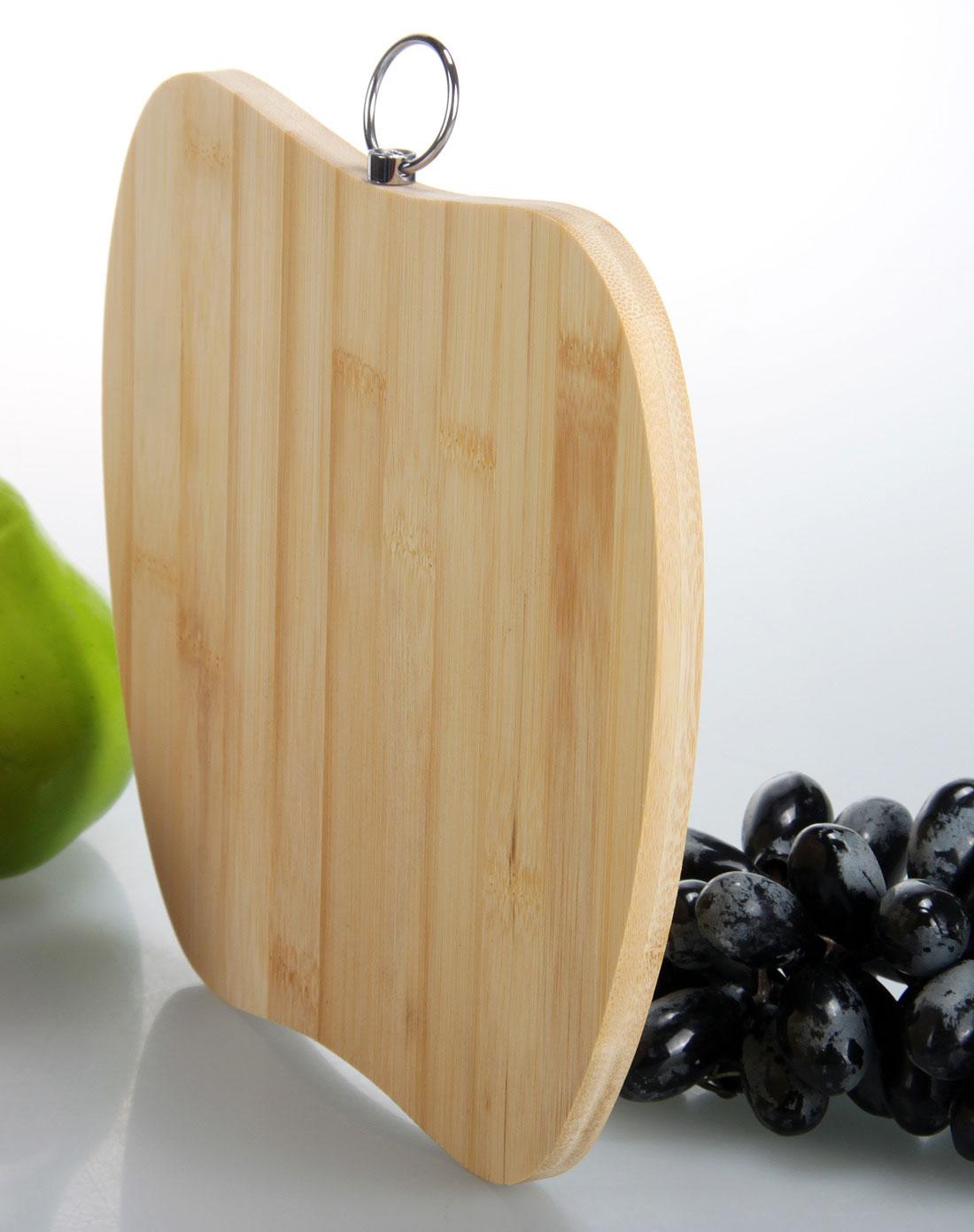苹果造型竹菜板图片