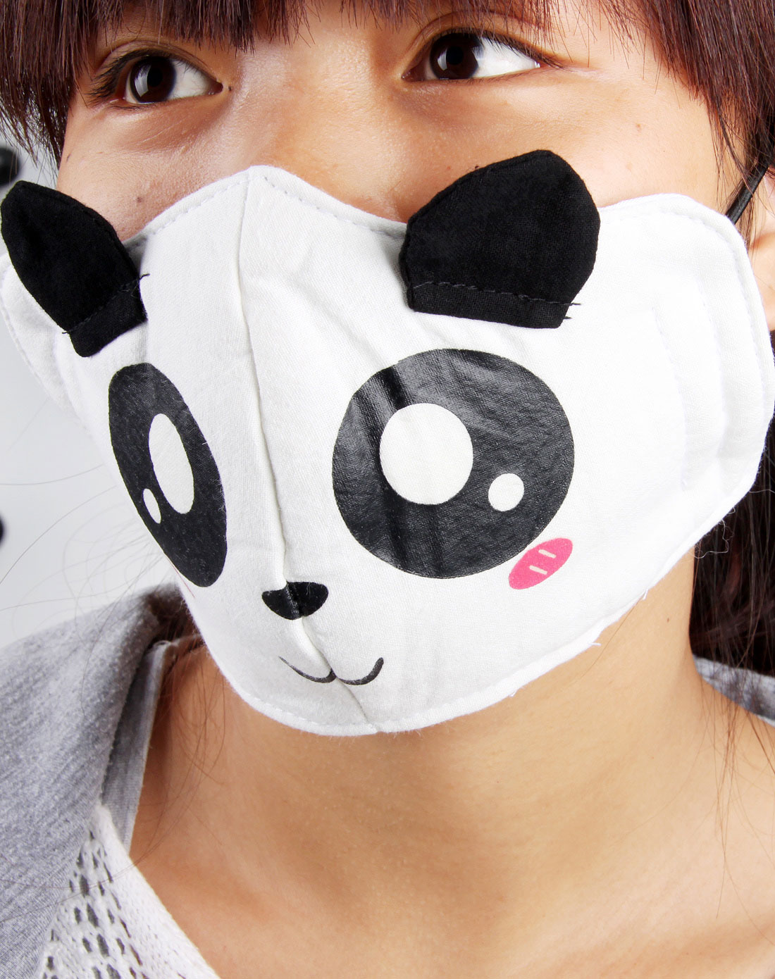 可爱熊猫纯棉保暖口罩