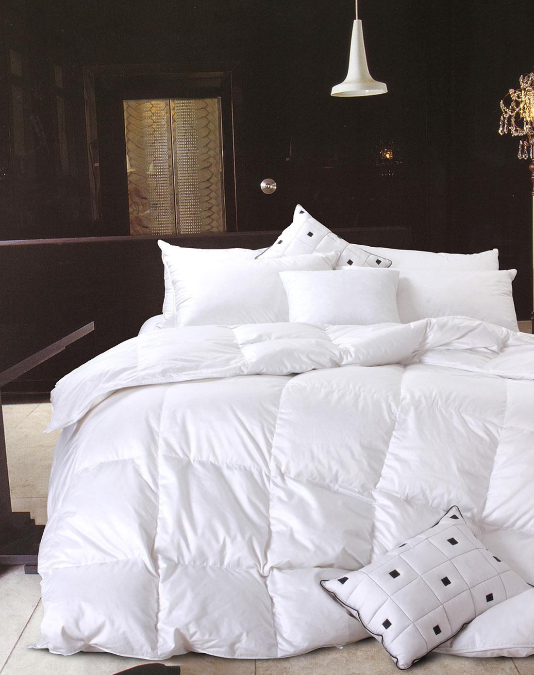 柳桥家纺专场-1.5米床95%特级白鹅绒纯白面料贵妃鹅绒冬被