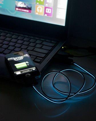 iphone4led流光数据线-黑bh-005