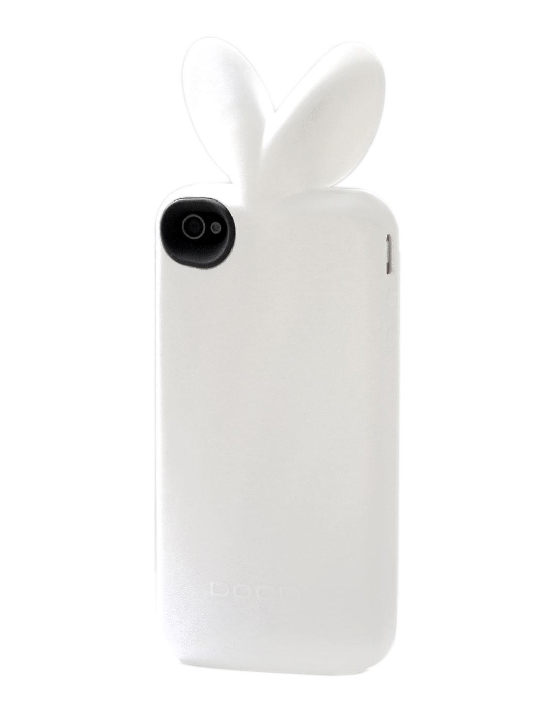 兔子耳朵手机壳-白色
