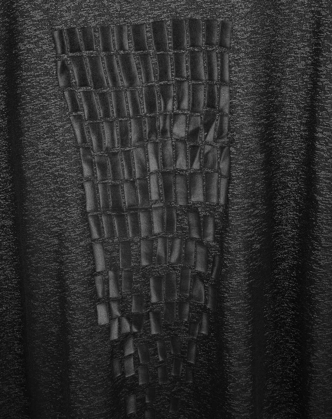 deer黑色结构几何微透t恤s1518023291