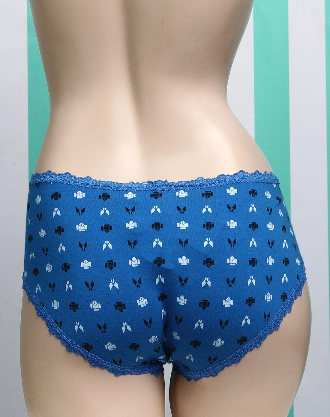 蓝色内裤女