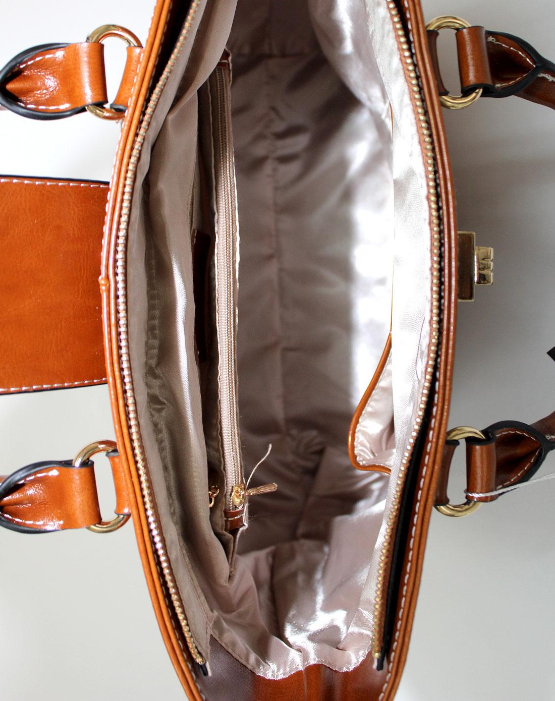 citylife系列棕色手提包斜跨包