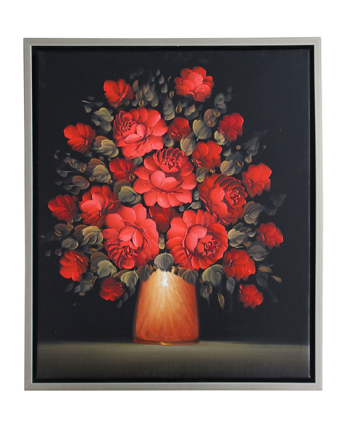 《红玫瑰》纯手绘油画
