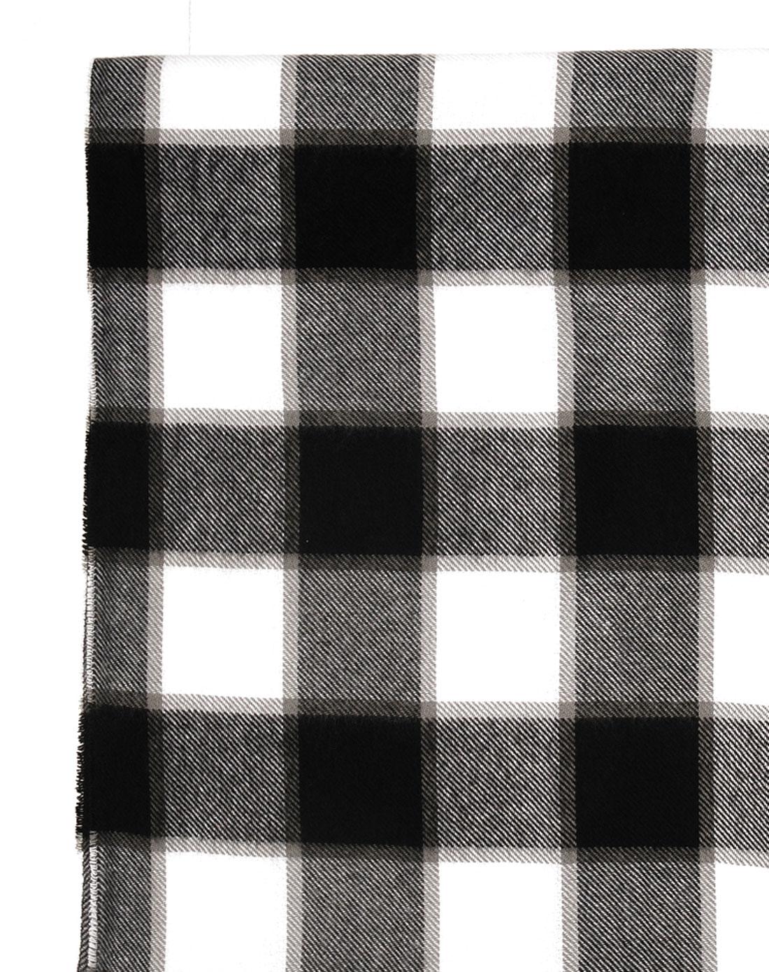 灰色格子圍巾047085