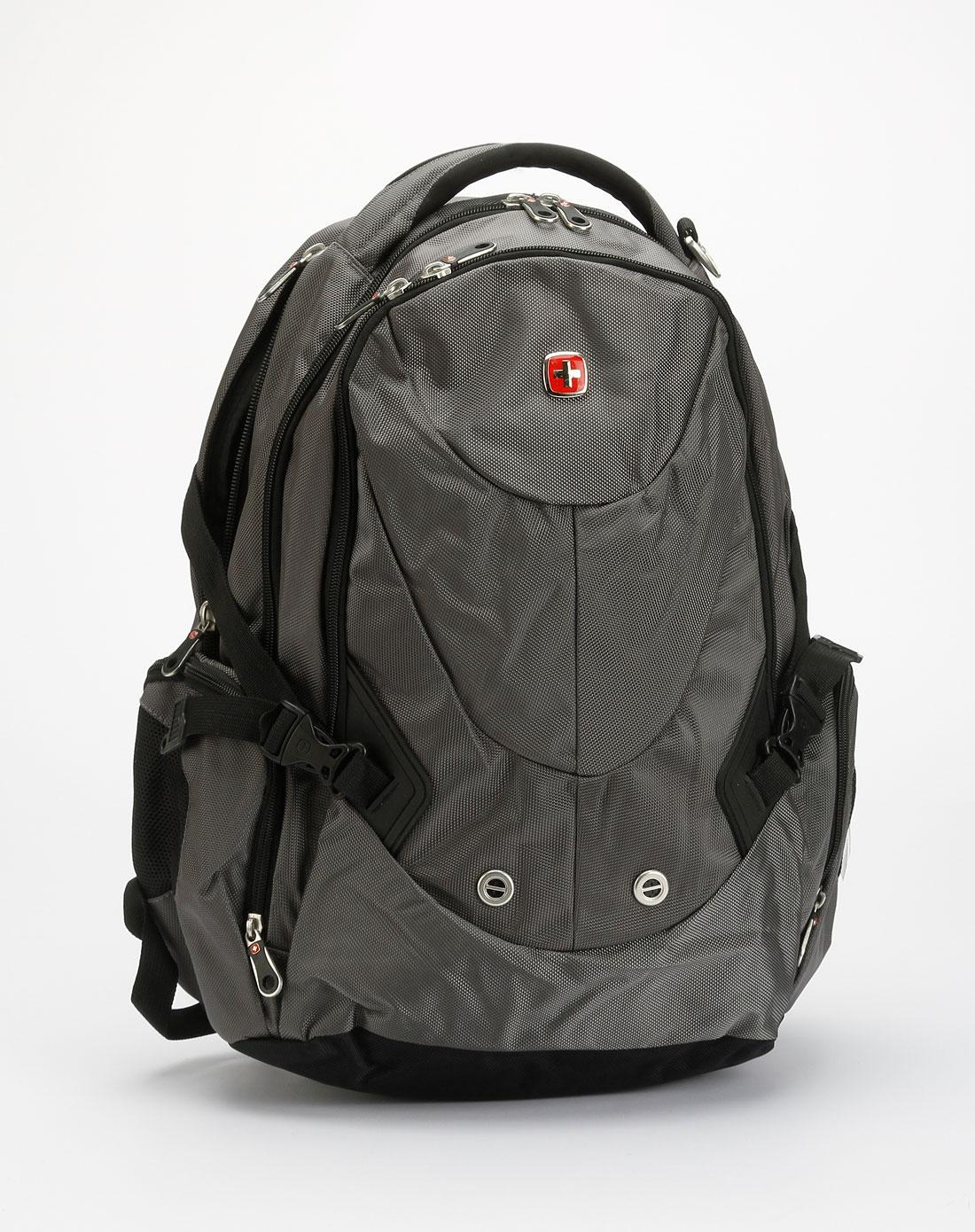 swisswin中性款灰色电脑背包sw9721bbk