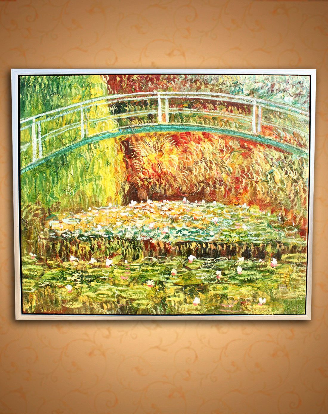 莫奈·睡莲-纯手绘油画(单幅)