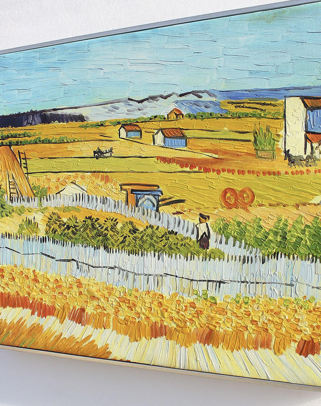 麦田-纯手绘油画(单幅)
