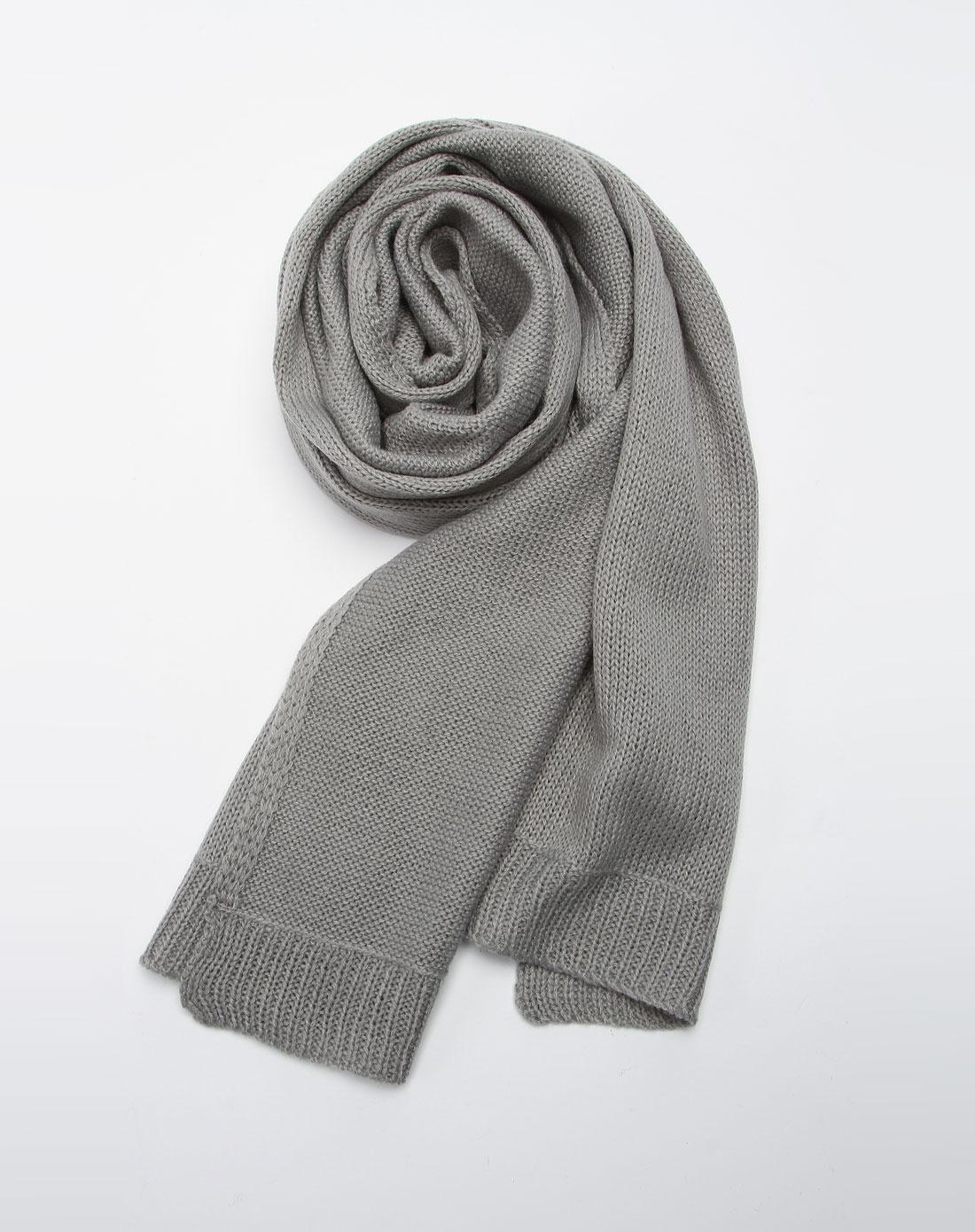 森马男装专场-浅灰色休闲围巾图片
