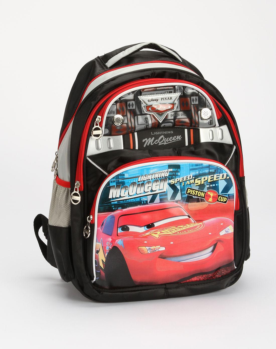 男童黑/红色汽车卡通包学生书包