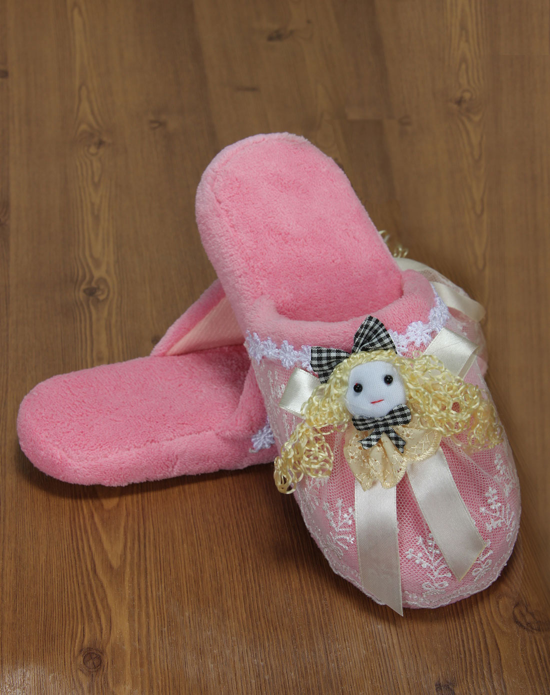 可爱女孩家居棉拖鞋