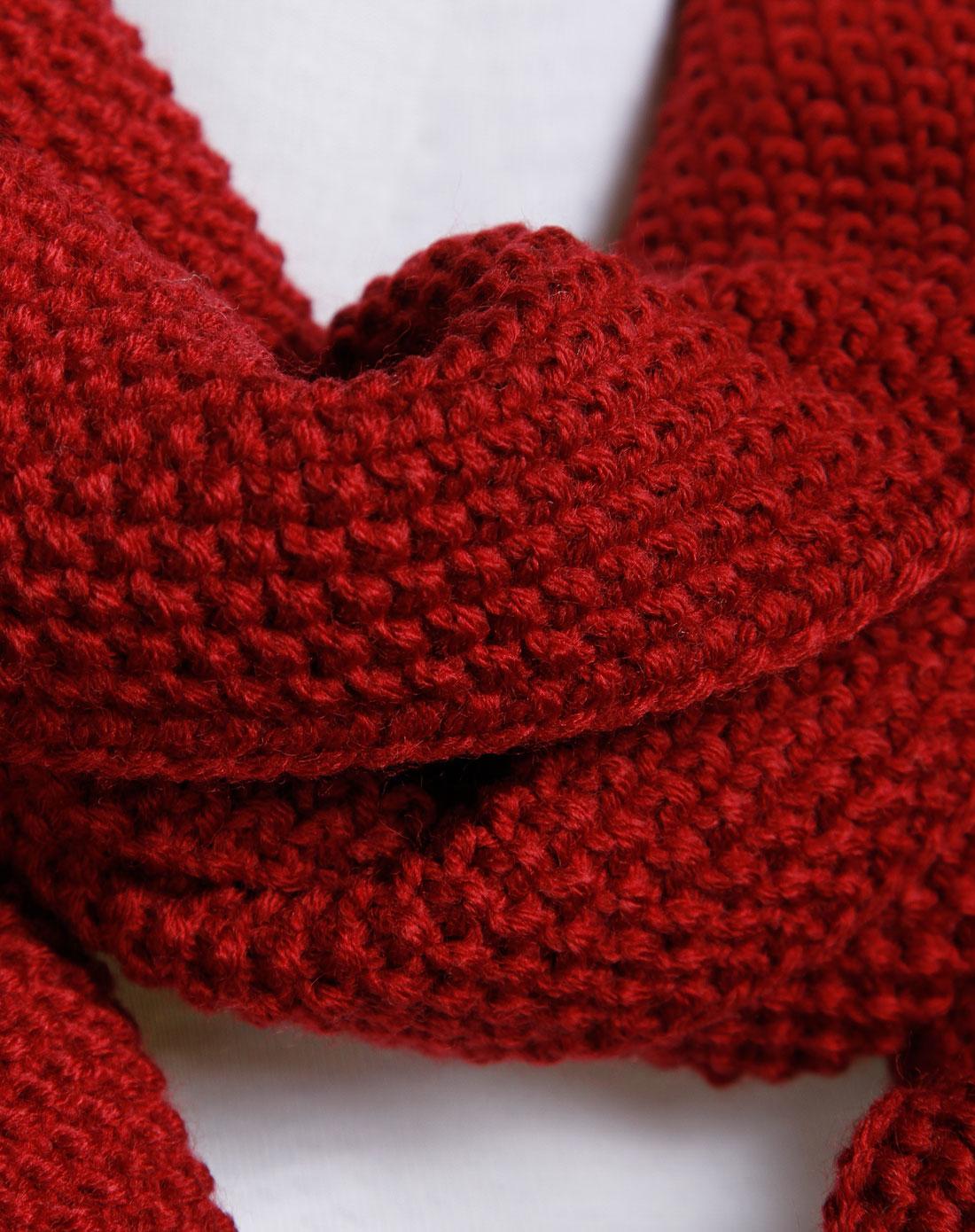 细线织围巾的花样图解