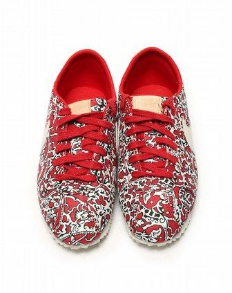耐克nike女子红色复古鞋528713-600