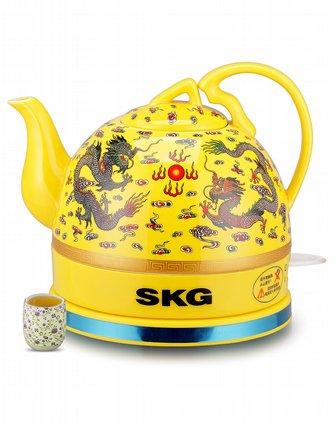 黄�:�y�(y�d_黄色中国龙陶瓷电热水壶