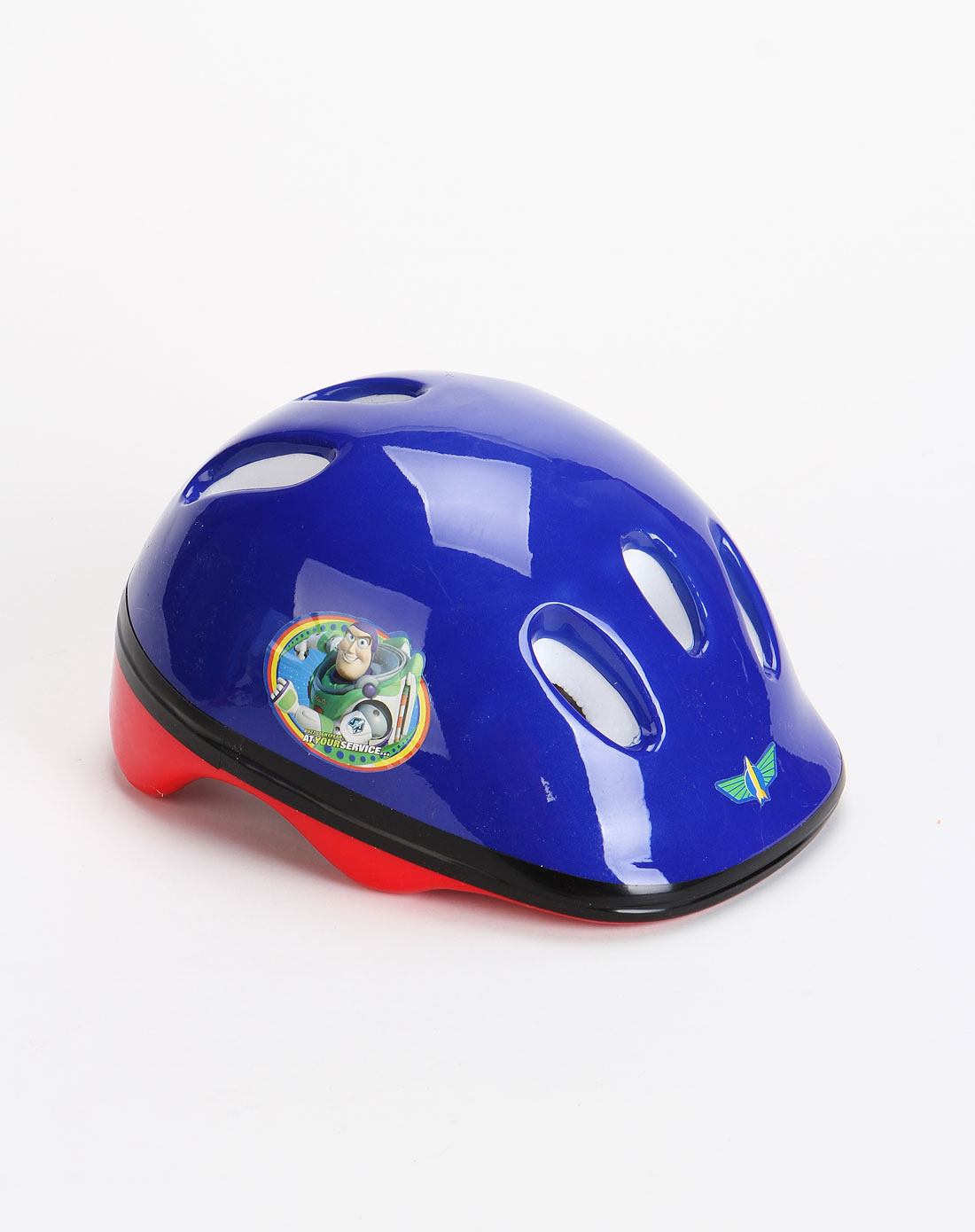 迪士尼蓝色卡通图案头盔