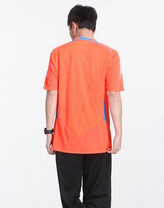 男款荧光橙色时尚短袖t恤