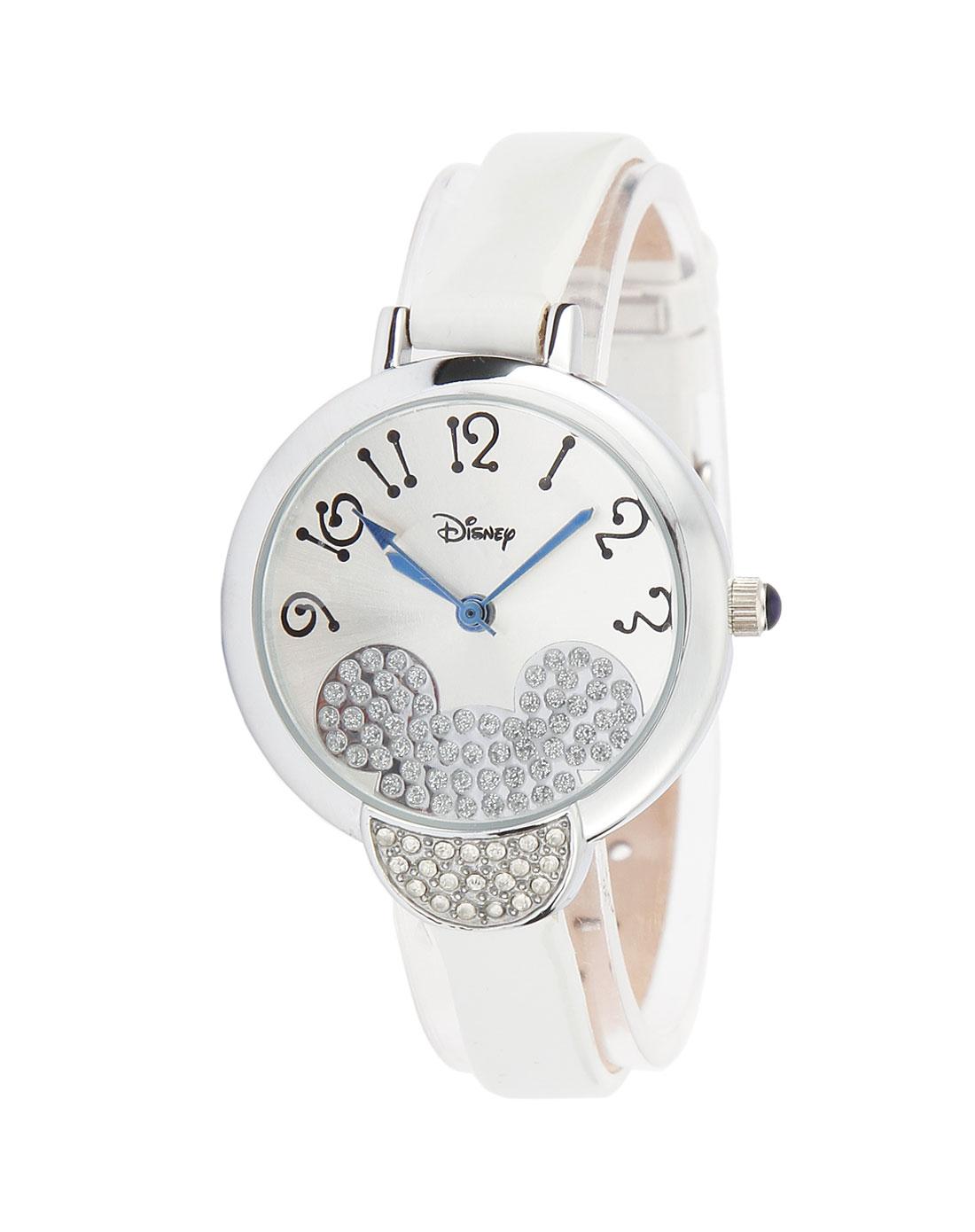 迪士尼disney 女款白色可爱手表