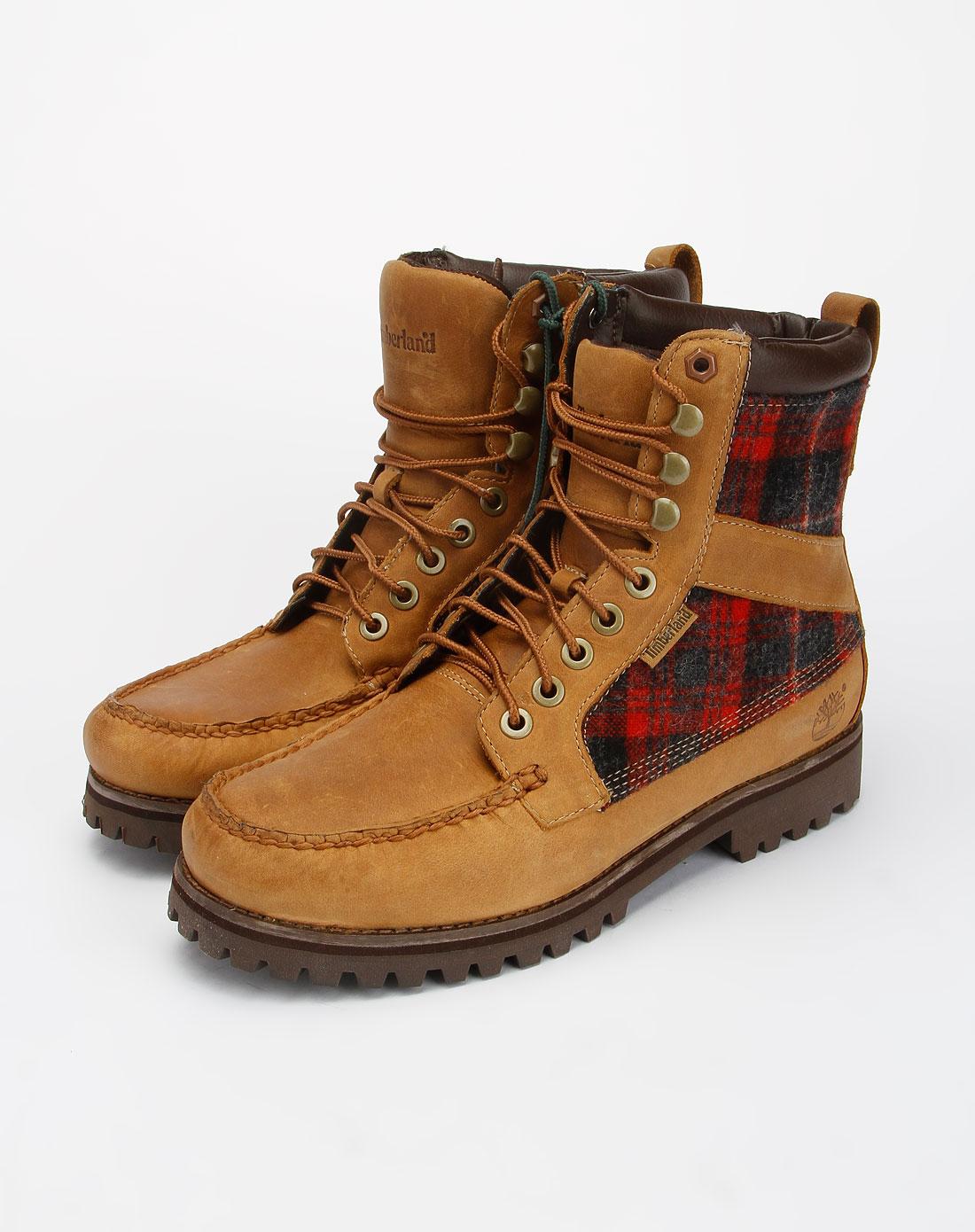 棕色系带个性休闲短靴