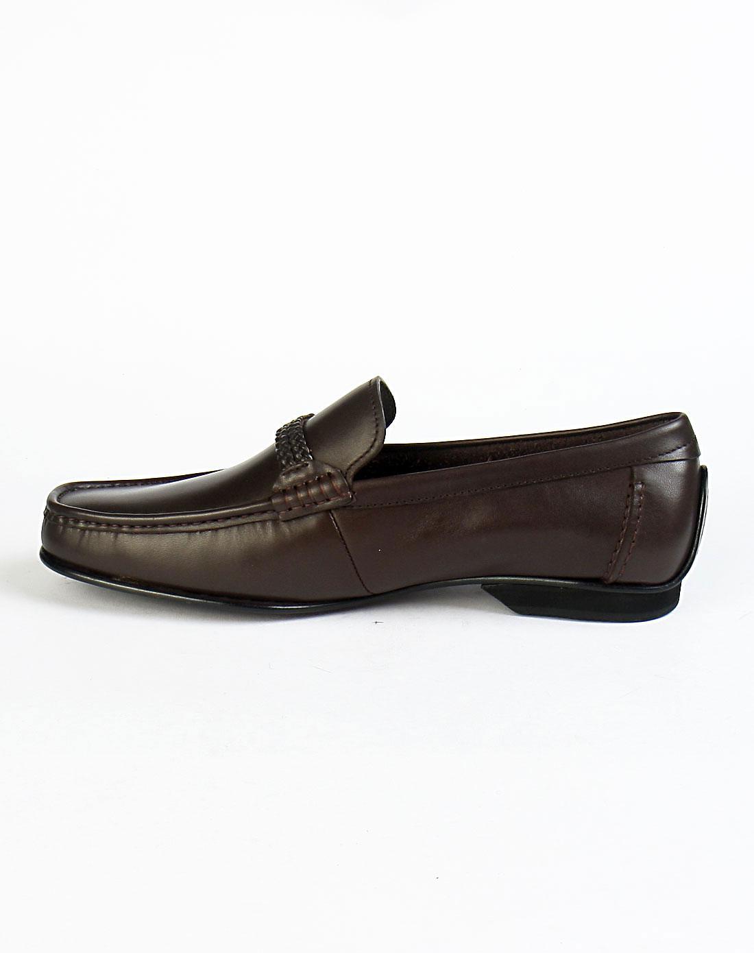 皇冠crown棕色商务系列男鞋21210220
