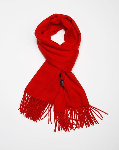 大红色简约休闲羊绒围巾披肩