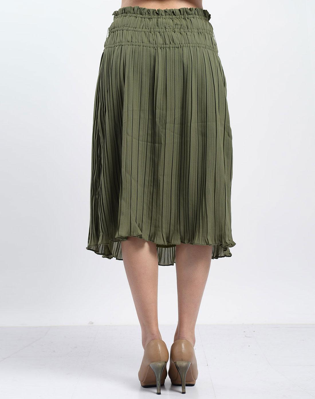 虫二ch/2橄榄绿裙子1216080q5