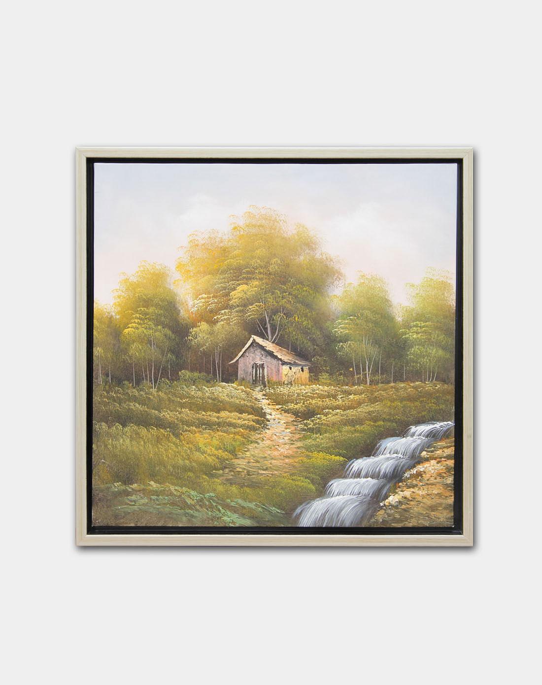 《小桥流水》纯手绘油画