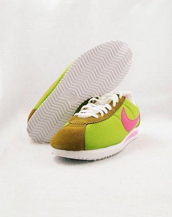 耐克nike男女款绿/土黄色经典阿甘运动文化鞋457226
