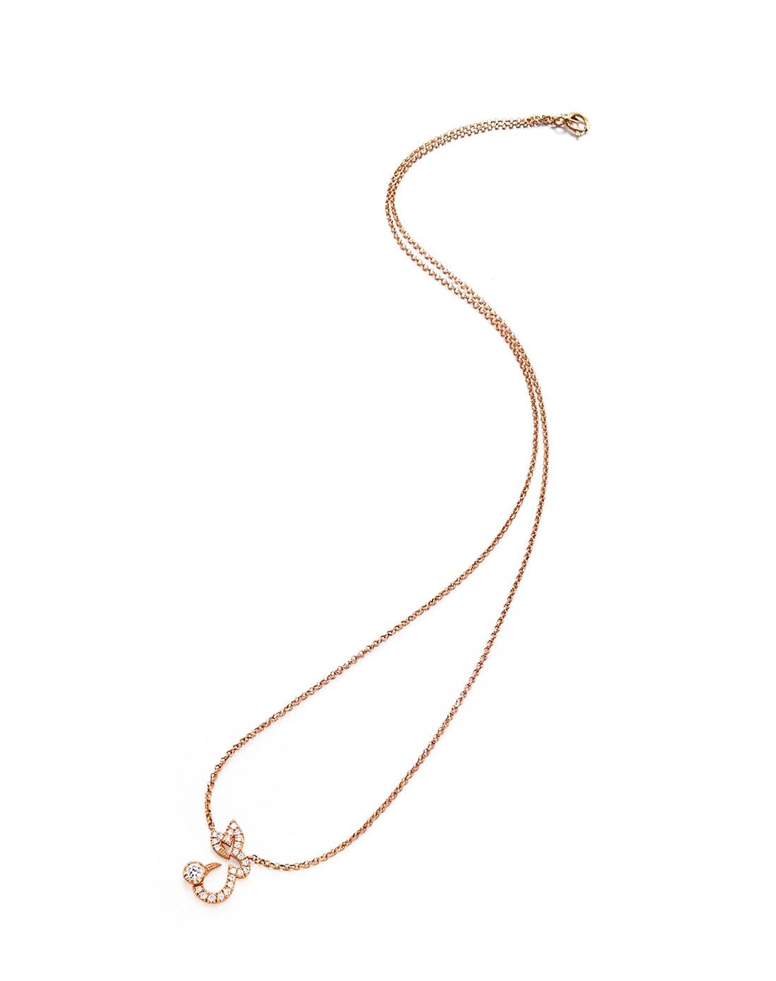 18k黄金钻石生肖-兔(吊坠+项链)