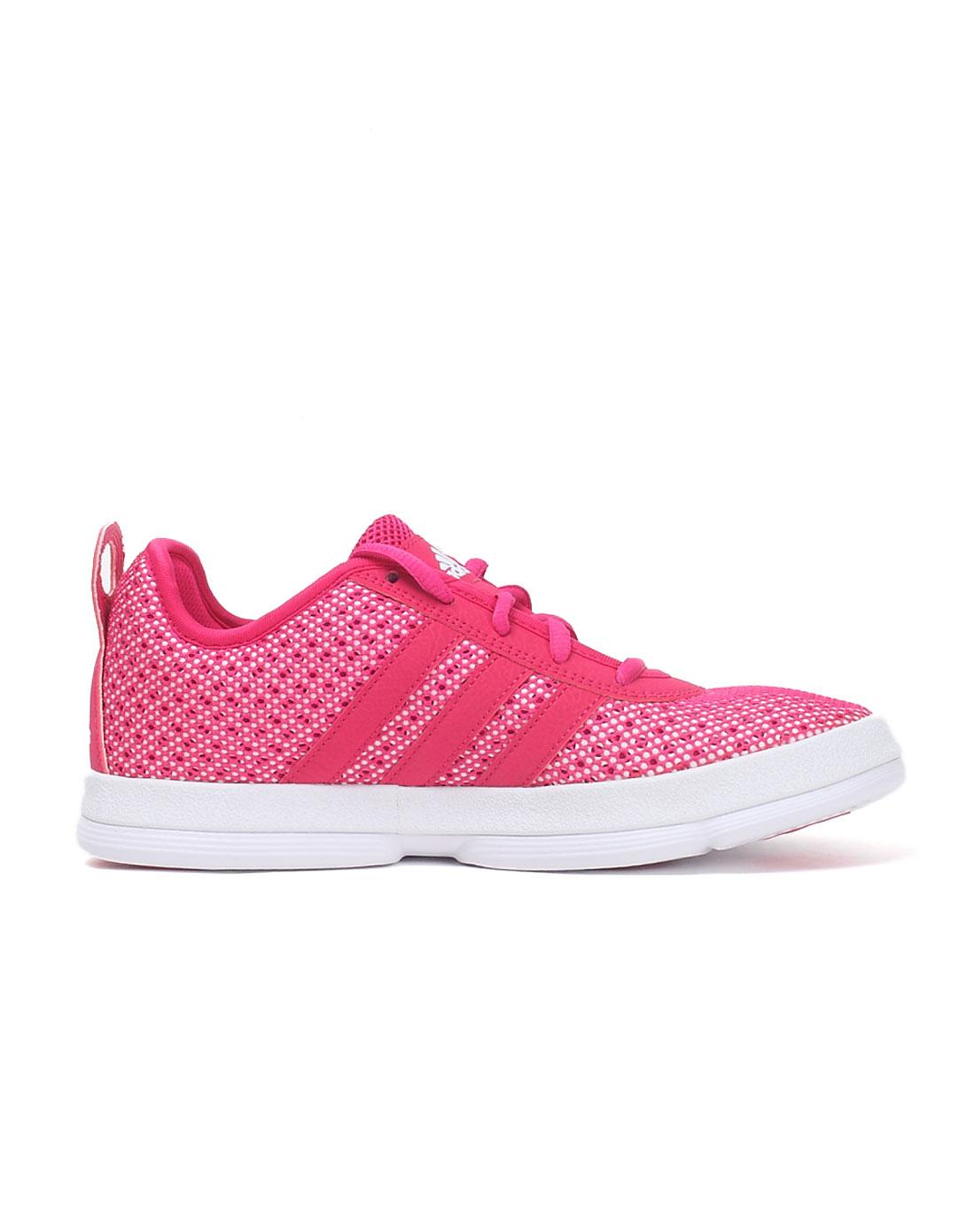 阿迪达斯adidas男女鞋女款粉色x-hale篮球鞋g59029