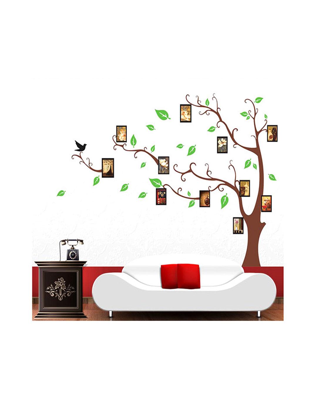 记忆照片树墙贴