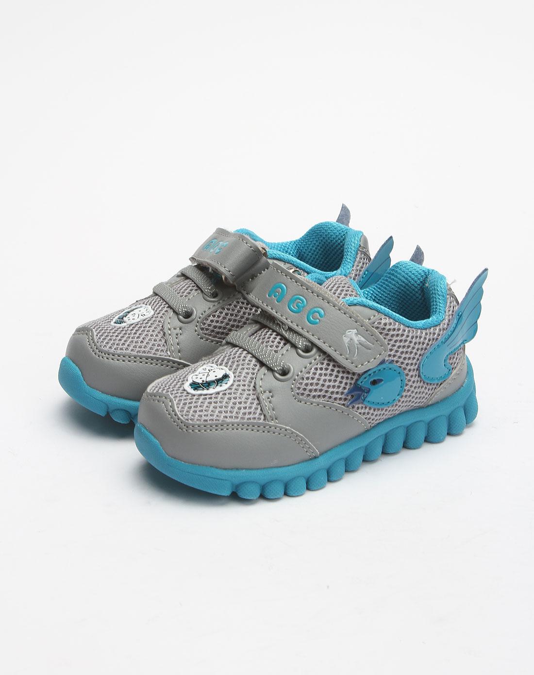宝鞋中灰/湖蓝运动鞋