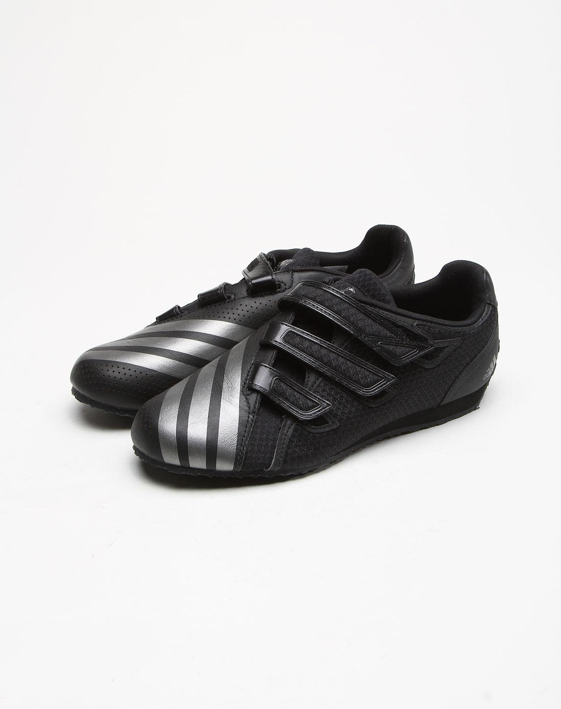 阿迪达斯adidas男女鞋时尚魔术贴黑色训练鞋g42738
