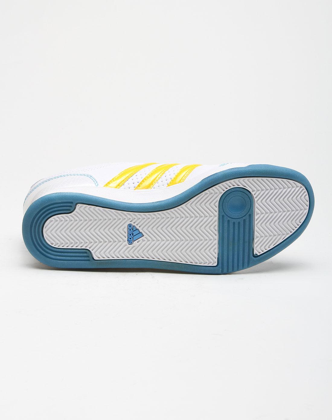 经典透气白底黄色运动鞋