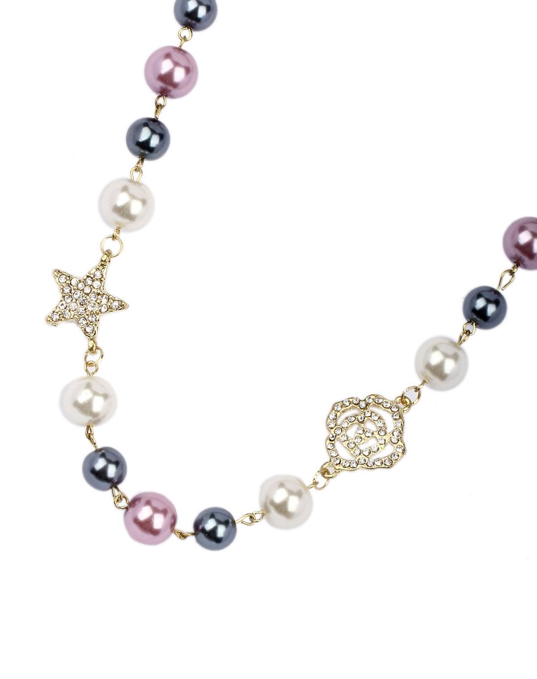 珍珠玫瑰项链